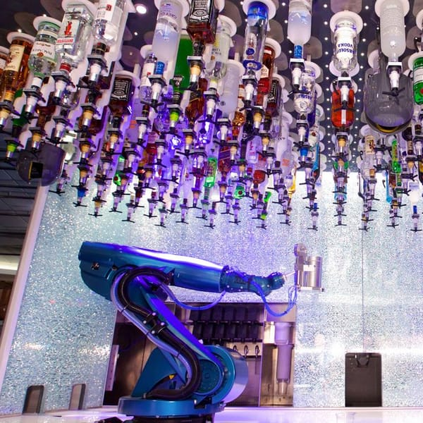robot controlled waiters and bartenders